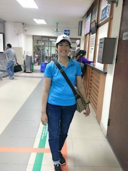 Hình ảnh của Thu Trang trong lần đi khám định kỳ gần nhất