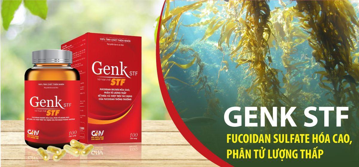 GenK STF - sản phẩm chứa hoạt chất Fucoidan sulfate hóa cao