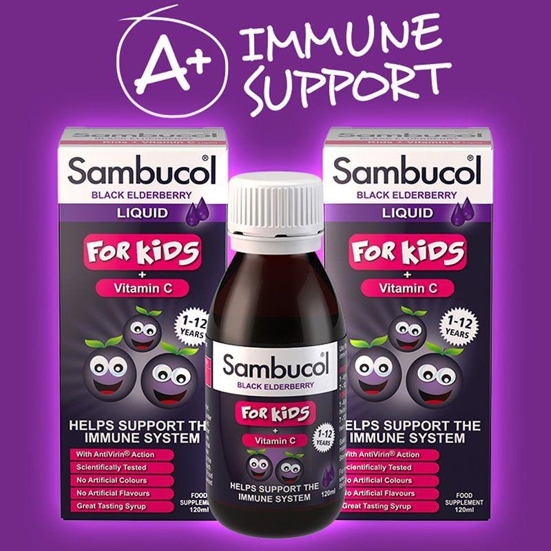 Siro Sambucol giúp tăng cường đề kháng cho trẻ nhỏ