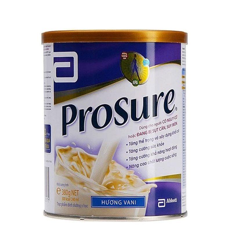 Sữa Prosure là sản phẩm của Mỹ được nhiều bệnh nhân ung thư lựa chọn để bổ sung dưỡng chất cho cơ thể