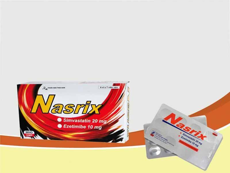 Nasrix - ức chế hấp thụ cholesterol trong thức ăn